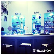 #Beautybar at NIMA! Stop by for #happyhour for all of your #skinmedica, #glymed, #skinceuticals, and #latisse needs!