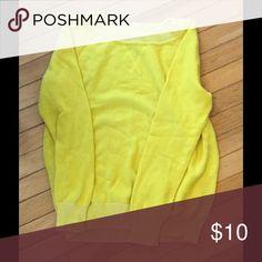 Yellow GAP Sweater Yellow long sleeve sweater GAP Sweaters Crew & Scoop Necks