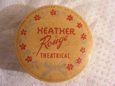 1940's Mid Century Heather Rouge Theatrical Powder