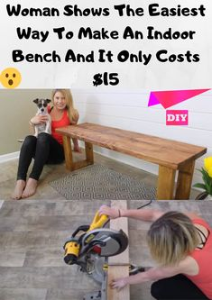Home Health Remedies, Diy Bench, Fun Projects, Wood Projects, Diy Recycle, Do It Yourself Projects, Wood Working For Beginners, Woodworking Projects Diy, Green Life