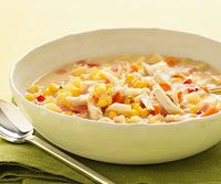 Slow Cooker Corn and Crab Chowder.... sounds and looks delicious for everything but the crab