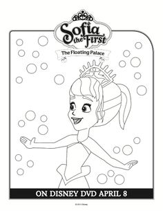 Sofia the First Coloring Sheet