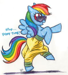 16. Hammer pants! Stop...pony time! haha! :) #KickinItAppleCheeks