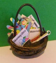 Fairy gardener basket