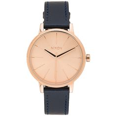 Nixon The Kensington Leather Accessories (€110) ❤ liked on Polyvore featuring jewelry, watches, nixon, leather wrist watch, nixon jewelry, nixon watches and leather band watches