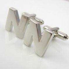 #Initial Cufflinks - Letter N.#cufflinks #cufflinkspalace