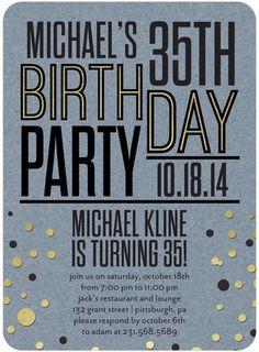 Splendid Bash - Adult Birthday Party Invitations - Sarah Hawkins Designs - Ocean - Blue #Birthday