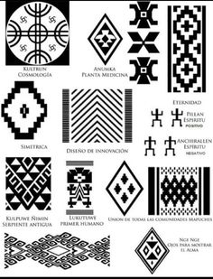 Risultati immagini per mapuche simbolos Wüsten Tattoo, Tattoo Hals, Inca Tattoo, Native Symbols, Ancient Symbols, Native American Patterns, Native American Art, Arte Latina, Motifs Aztèques