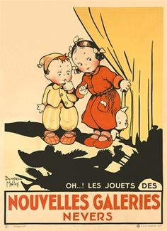 Noubelles Galeries Nevers by Mallet 1925 France -  Giclee Advertising Print.