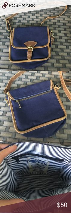 United by blue canvas leather crossbody bag Good preowned condition united by blue Bags Crossbody Bags