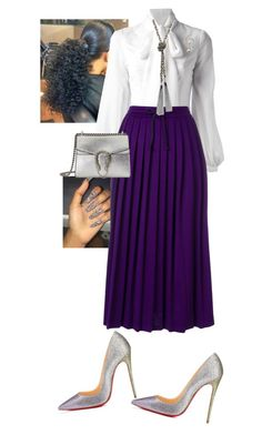 """State Meeting!!"" by cogic-fashion on Polyvore featuring Dondup, Gucci, Christian Louboutin and GUESS"