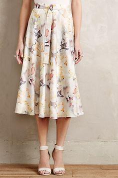 Pollinated Midi Skirt #anthrofave