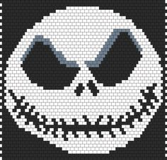 Jack Skellington The Nightmare Before Christmas Bead Pattern | Peyote Bead Patterns | Characters Bead Patterns