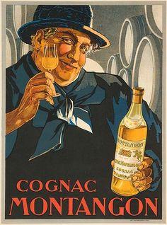 """""""COGNAC MONTANGON""""  c. 1920s"""