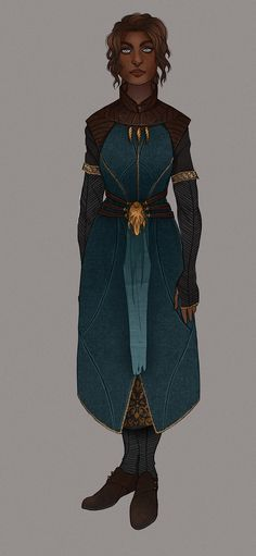 This outfit would be common of an Emphithe scholar or high ranking official.  Source Comment: Arawn, mage robes.