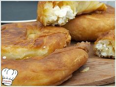 Divine tyropita from Skopelos Cookie Dough Pie, Greek Pastries, Greek Cooking, Greek Recipes, I Foods, Food Processor Recipes, Food To Make, Food And Drink, Dessert Recipes