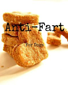 No Fart Dog Treats--Dog Biscuits for Gassy Puppies--All Natural, Vegan Pet Treats on Etsy, $8.00
