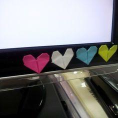 origami love post-it work