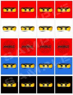 DIY party bags Ninjago theme