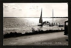 Sunset boat ride, Clear Lake, Iowa