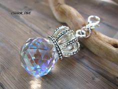 Traumhaft... schöner... funkelnder  Wechselanhänger    *Glaskristall mit Krone*        Der Anhänger passt perfekt zu allen  Velourbändern,Glieder...