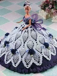 Image result for patrones de vestidos a ganchillo para muñecas