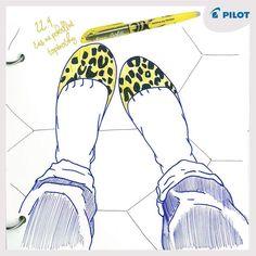 22. 9. Dnes slavíme európsky deň bez áut - priprav si naozaj pohodlné topánky! :) #pilotpen #happywriting #shoes #pen