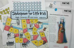 Happy Birthday Shakespeare Unit Study // math, science, art, books and more