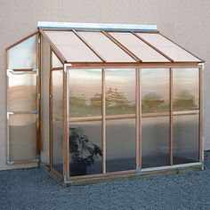 Lean-to Gardenhouse - Hobby Greenhouse Kits  This would be hreat for an orchid house.