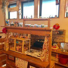 おままごとキッチン/キッズルーム/流木/木の家/キッズカフェ/おままごとカフェ...などのインテリア実例 - 2017-02-05 22:24:20 | RoomClip (ルームクリップ) Diy For Kids, Jade, Diy And Crafts, House Styles, Interior, Kitchen, Furniture, Home Decor, Small Spaces