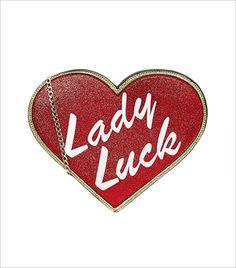 Skinnydip x Felicity Hayward Lady Luck Heart Glitter Clutch_Hauterfly