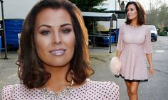 Jessica Wright gives her dress an edge with 80's style shoulder pads #DailyMail