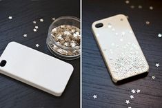 How to Make a DIY Phone Case - 20 Creative Ideas | Mod Podge makes this phone a starry, starry night - Starry Case