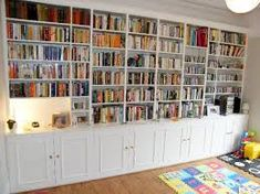 Explore 15 of 15 ideas about well-liked full wall bookshelf love the huge wall to wall bookcases in this throughout full wall bookshelves. View complete collection of 15 photos and related bookshelves ideas here. Floor To Ceiling Bookshelves, Bookshelf Design, Bookshelves Built In, Bookshelves In Living Room, My Living Room, Home Office Design, House Design, Bookshelf Plans, Bookshelf Wall