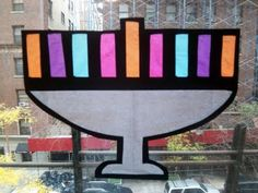 Upper West Side Mom: A (Jewish) Parenting, Cooking and Crafting Blog: Jewish Crafts for Kids: Stained Glass Hanukkah Menorahs