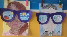 Auto retrato Óculos: Férias