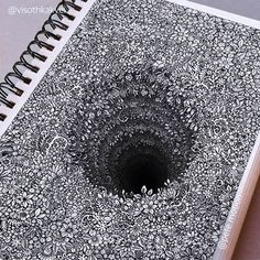 Impossibly Tiny Doodles Fill Sketchbook Pages with Surreal Optical Illusions – Zeichnung , Kritzeleien und mehr Illusion Drawings, 3d Drawings, Detailed Drawings, Pencil Drawings, Amazing Drawings, Flower Drawings, Amazing Artwork, 3d Artwork, Crazy Drawings
