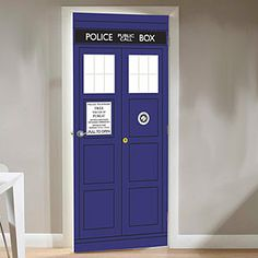Doctor Who TARDIS Door Cling - no better door for our office than this :)
