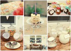 breakfast is the best. Breakfast parties are even better Pajama Birthday Parties, Pj Party, Throw A Party, Party Time, Breakfast Parties, Birthday Breakfast, Birthday Party Decorations, Birthday Ideas, Pancake Party