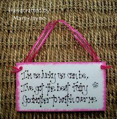 Christening Gift FAIRY GODMOTHER Wooden Plaque in by byfairydust, $9.95