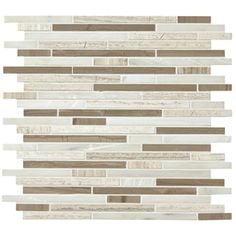 American Olean Delfino Stone Smokey Topaz Mixed Material (Stone and Glass) Mosaic Indoor/Outdoor Wall Tile (Common: 12-in x 12-in; Actual: 11.5-in x 13-in)