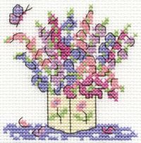 free cross stitch patterns in pdf format with sweet peas