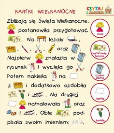 Użyj STRZAŁEK na KLAWIATURZE do przełączania zdjeć Learn Polish, Polish Language, Paper Gift Box, Speech And Language, Speech Therapy, Easter Crafts, Templates, Education