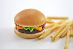 Cheeseburger Hamburger French Fries Food for 18 Inch Dolls American Girl via Etsy
