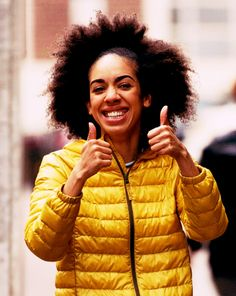 Pearl Mackie on the set of Doctor Who Series 10 - 24 June 2016 - Photo by Matthew Horwood/GC Images