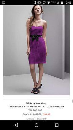 d00a95bc1ba9 Bridesmaid Dresses Under 100, Bridal Party Dresses, Satin Dresses,  Strapless Dress Formal,