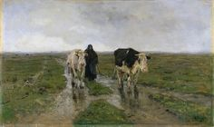 Anton MAUVE (1838-1888, Dutch painter): Changing Pastures