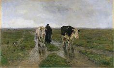 Anton MAUVE (1838-1888, Dutch painter): Changing Pastures