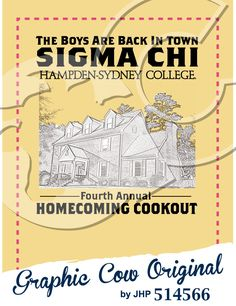 86ad760aa6793 Homecoming Cookout Sigma Chi Hampden-Sydney house sketch  grafcow