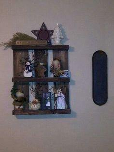 Finished DIY pallet shelf